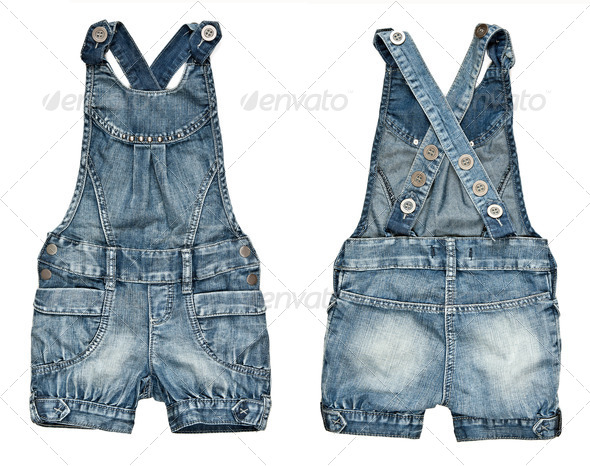 children's denim shorts - Stock Photo - Images