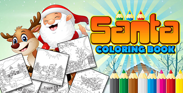 Santa Coloring Book App (CAPX and HTML5)