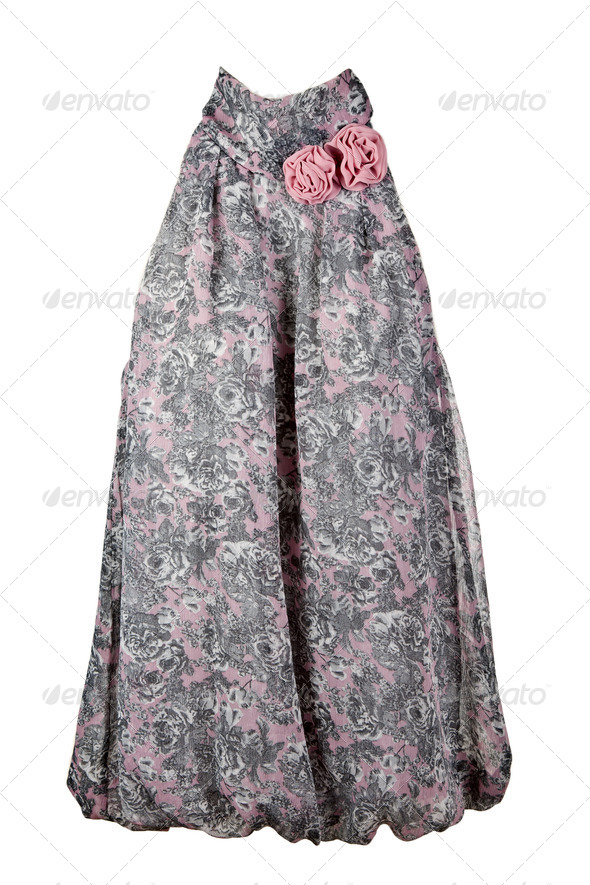 Women's blouse with fabric rose - Stock Photo - Images