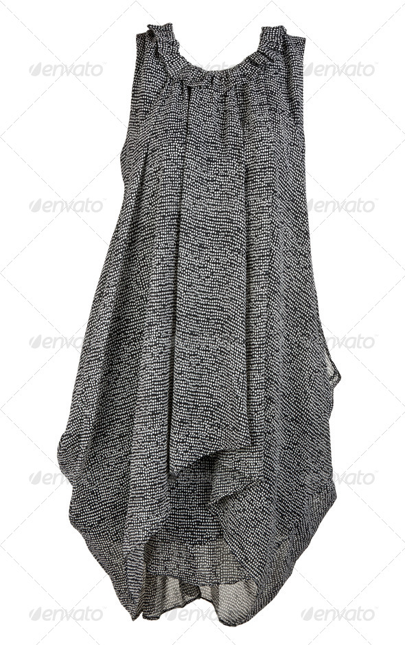 gray and stylish women's dress - Stock Photo - Images