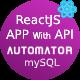 ReactJS Admin Panel Generator MaterialUI With PHP REST API Generator From MySQL + JWT Auth + Postman