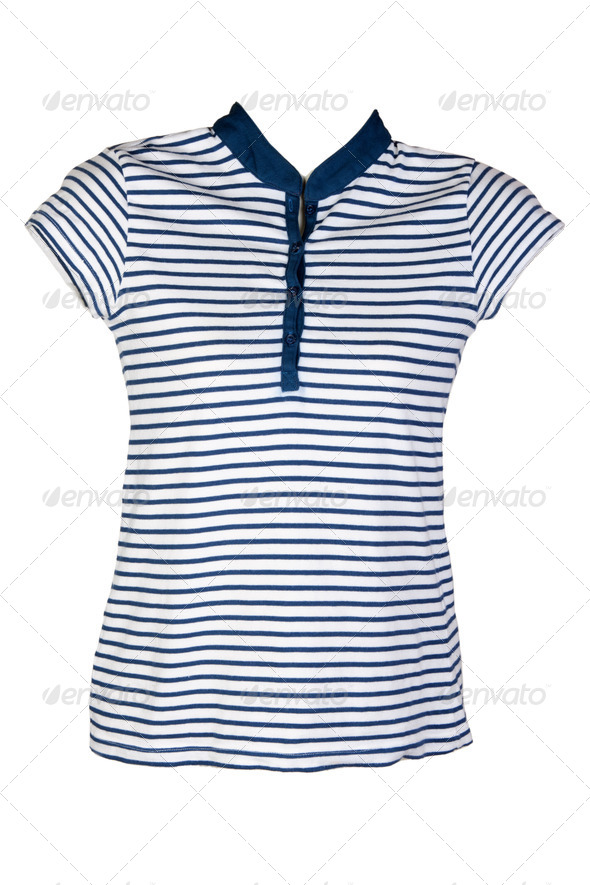 Women's casual wear blue stripes - Stock Photo - Images