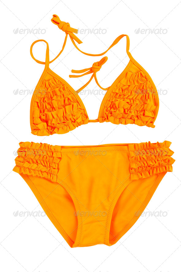 orange swimsuit - Stock Photo - Images