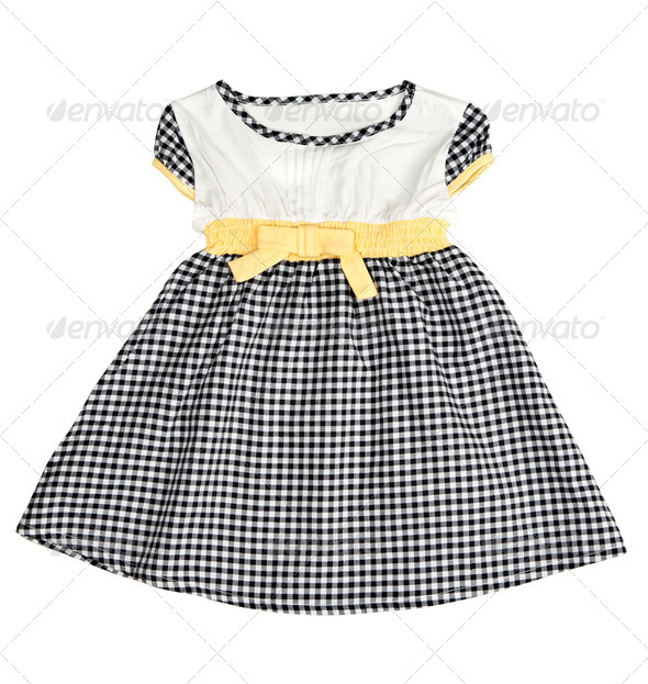 Children's checkered dress - Stock Photo - Images