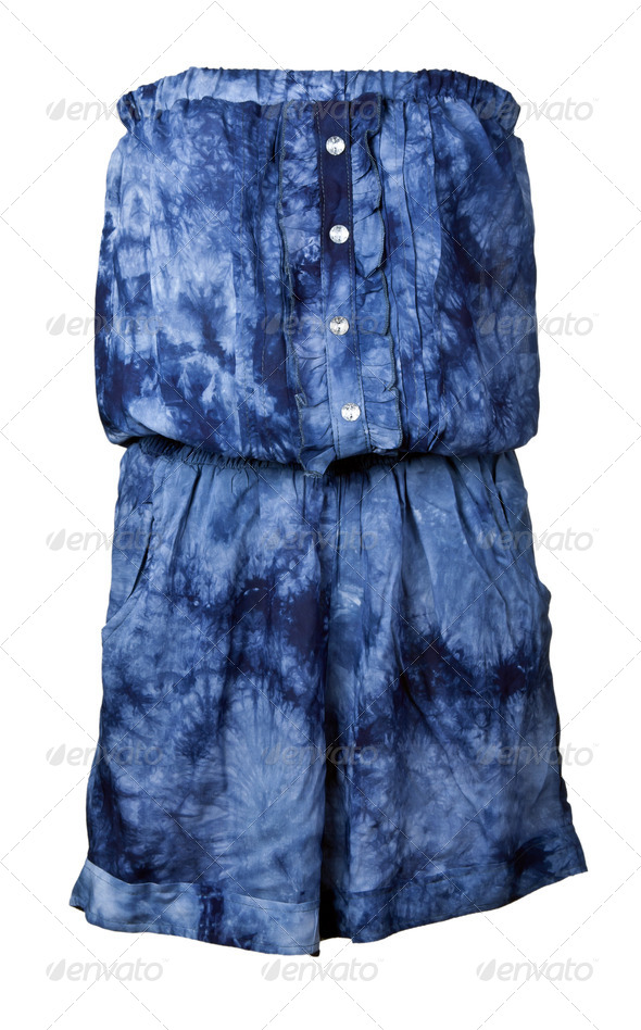 blue woman's dress - Stock Photo - Images