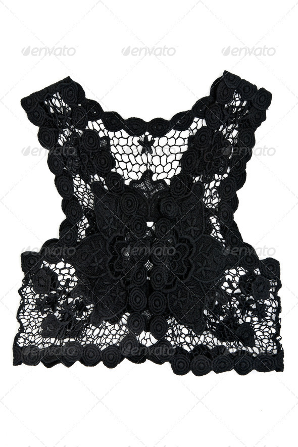black women's vest from lace - Stock Photo - Images