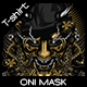 Oni Mask T-shirt Design