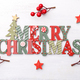 Merry Christmas wooden ornament - PhotoDune Item for Sale