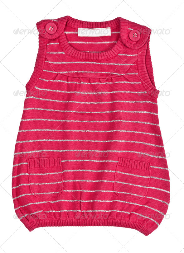 child red striped sweater - Stock Photo - Images