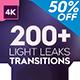 4K Light Leaks Transitions - VideoHive Item for Sale