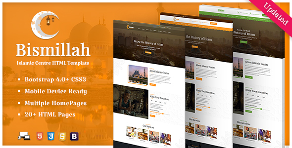 Bismillah - Islamic Center Responsive HTML Template