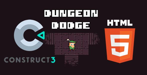 Dungeon Dodge HTML5 (c3p Construct 3 Source Code)