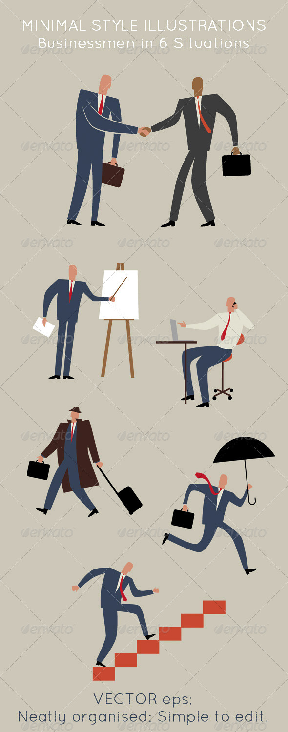 Business Men; Social, Office, Travel & Meeting  - Business Conceptual