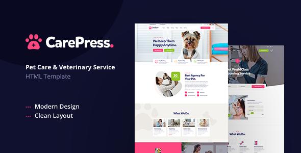 CarePress - Pet Care & Veterinary Shop HTML Template
