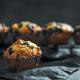 Homemade blueberry muffins on dark background - PhotoDune Item for Sale
