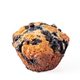 Homemade blueberry muffin isolated on white - PhotoDune Item for Sale