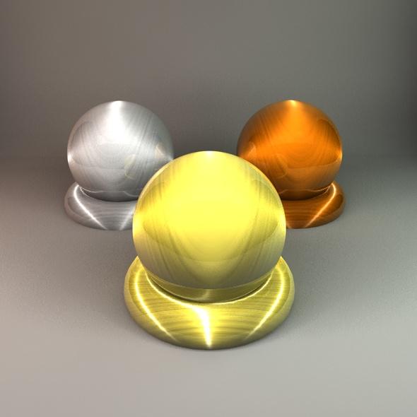 Metal Materials (3 Pack) - 3DOcean Item for Sale