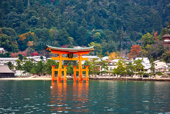 Miyajima, Hiroshima, Japan - Stock Photo - Images