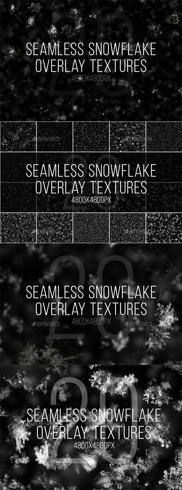 20 Seamless Snowflake Textures