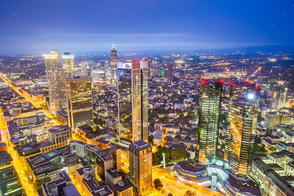 Frankfurt, Germany Cityscape - Stock Photo - Images