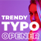 Trendy Typo Opener | For Final Cut & Apple Motion - VideoHive Item for Sale