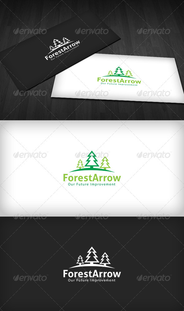 Forest Arrow Logo - Nature Logo Templates
