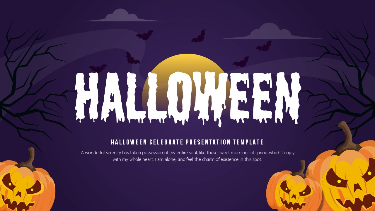 Halloween Party Powerpoint Presentation Template Fully Animated