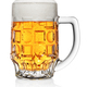 Mug of light yellow beer isolated on white - PhotoDune Item for Sale
