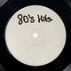 White label of LP vinyl record with 80's Hits text. - PhotoDune Item for Sale