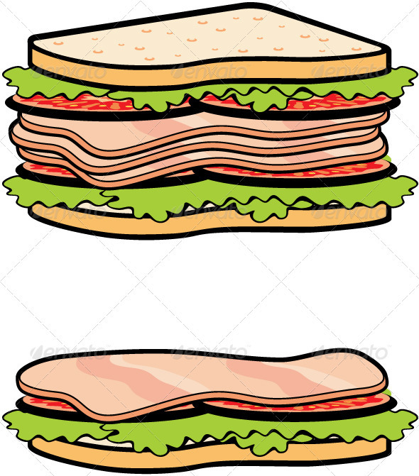 Two sandwiches - Food Objects