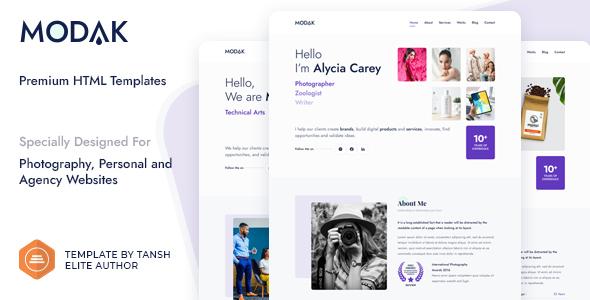 Modak One Page HTML Template