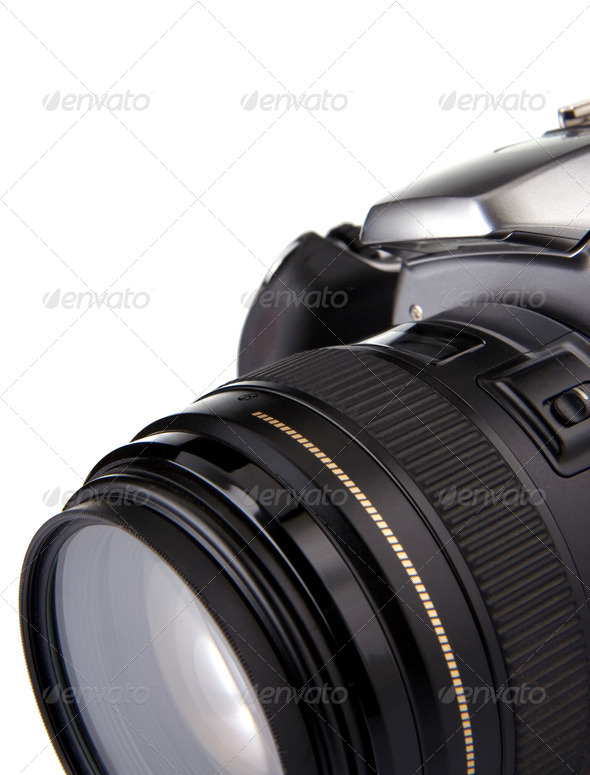 digital photo camera isolated on white - Stock Photo - Images