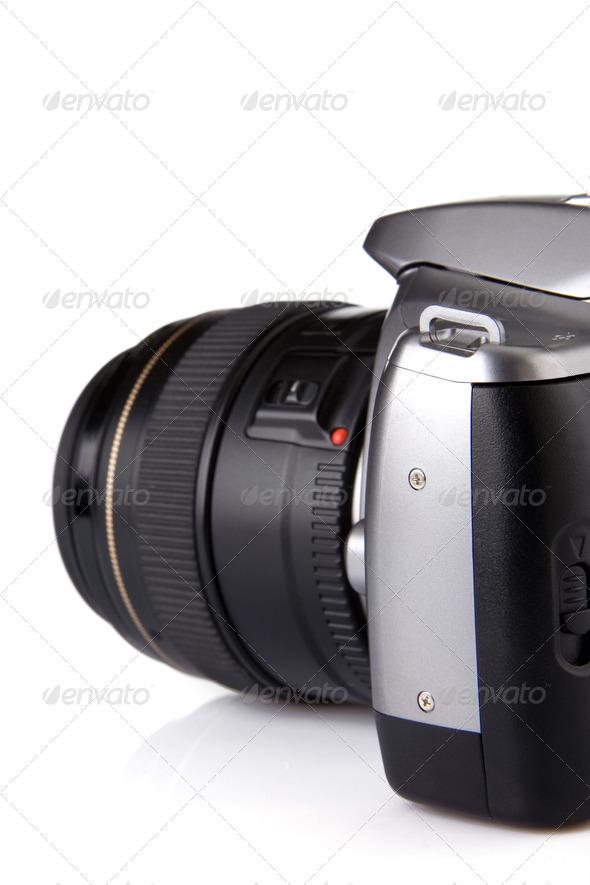 photo camera isolated on white - Stock Photo - Images