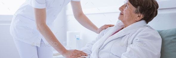 Supporitve nurse and patient - Stock Photo - Images