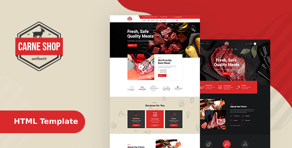 CarneShop - Butcher & Meat Shop HTML template