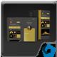 Gold & Dark Z Fold 2 Mockup