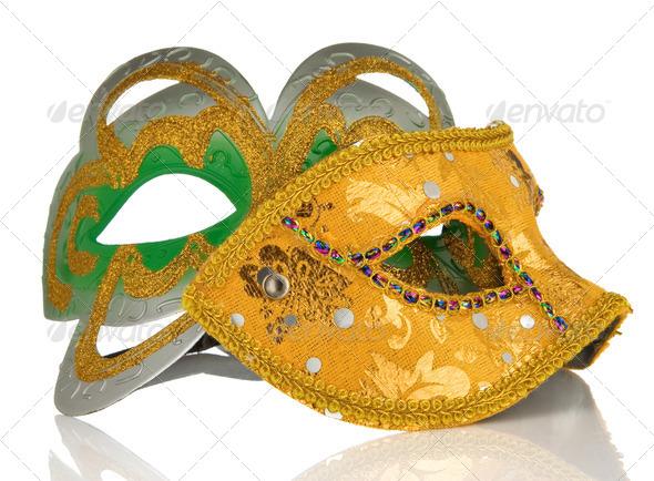 carnival mask isolated on white - Stock Photo - Images