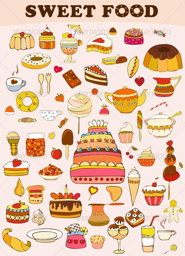 Sweets Food Set - Food Objects