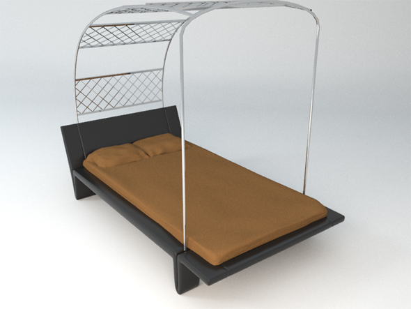 Designer bed - 3DOcean Item for Sale