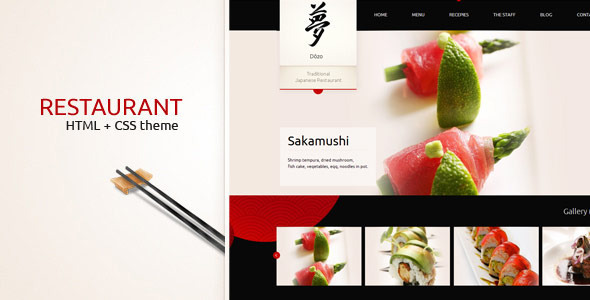 Taste of Japan – classy website of restaurant