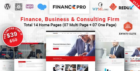 Finance Pro - Business & Consulting WordPress Theme
