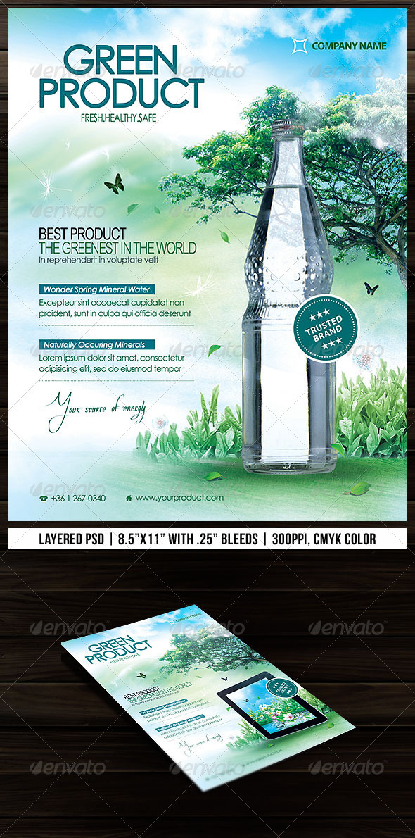 Green Product Flyer By Minkki | Graphicriver