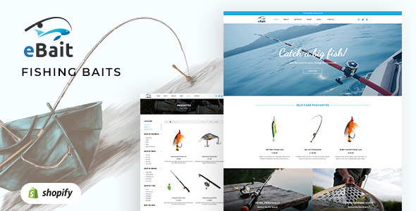 eBait - Hunting, Fishing Shop Shopify Theme