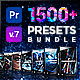 Presets Pack for Premiere Pro: Transitions, Titles, Effects, VHS, LUTS, Logo