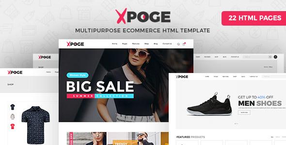 Xpoge   Multipurpose eCommerce HTML Template