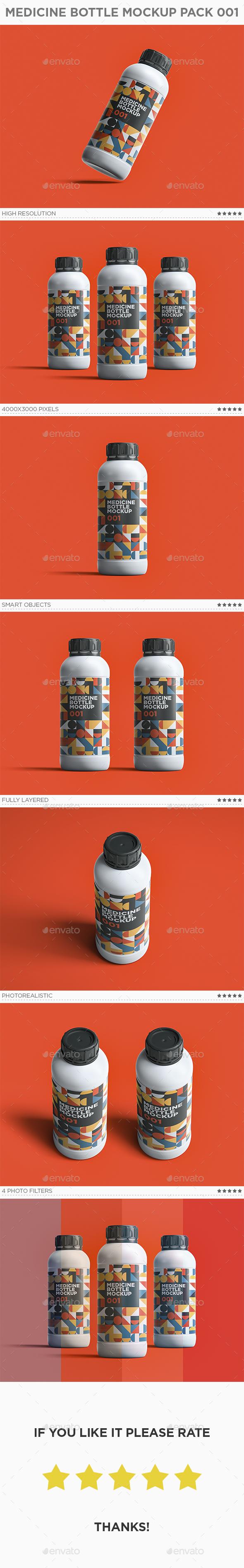 Medicine Bottle Mockup Pack 001