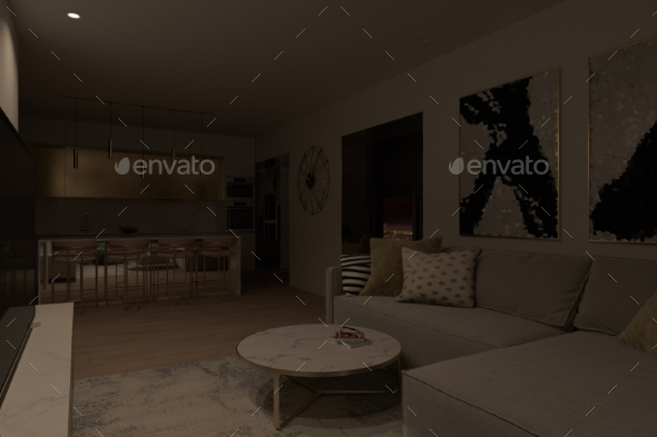 Illustration of an Apartment Interior Design with