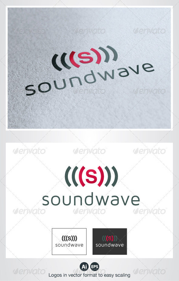 Sound Wave S Logo - Letters Logo Templates