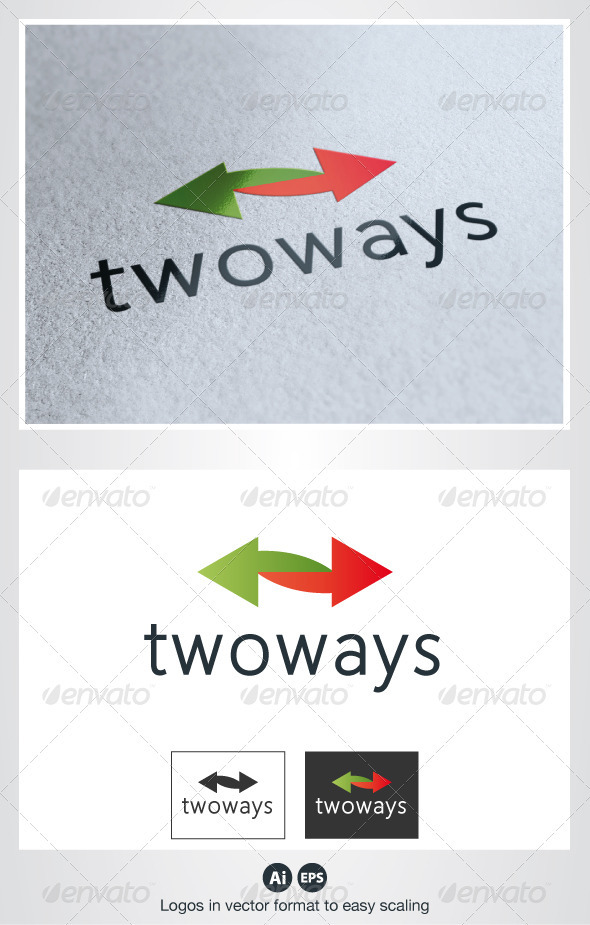 Two Ways Logo - Symbols Logo Templates