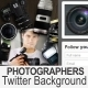 Photographers Twitter Background - GraphicRiver Item for Sale